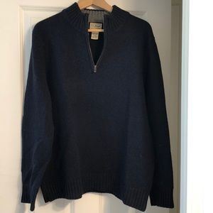 LLBean Half Zip Men's Sweater Large